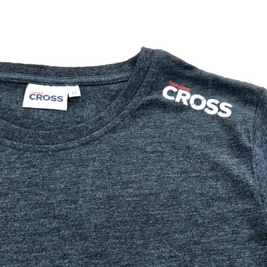 Cross T-Paita, meleerattu harmaa